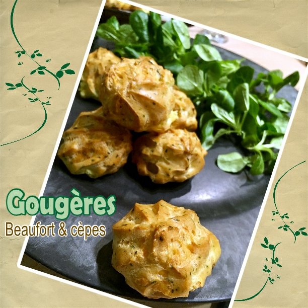 gougère beaufort et cèpes(scrap)