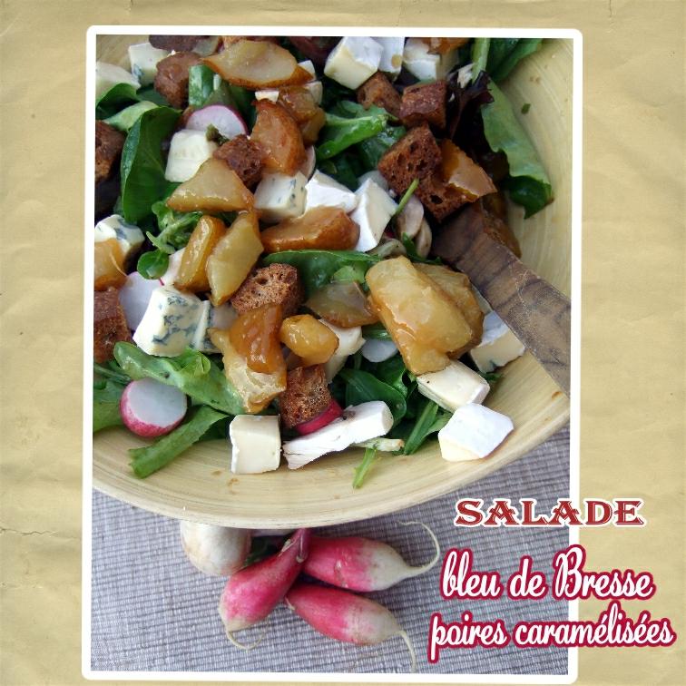 Salade bleu de bressse et poires caramélisées (scrap)