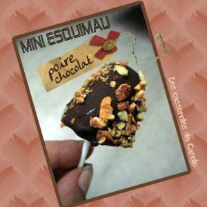 Mini esquimau poire choocolat (scrap)