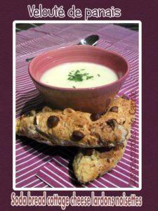 Velouté de panais sodabread cottage cheese lardons noisettes (SCRAP)