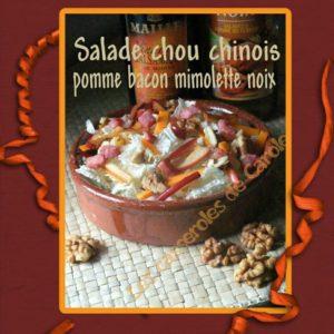 Salade de chou bacon mimolette pommes noix (SCRAP)