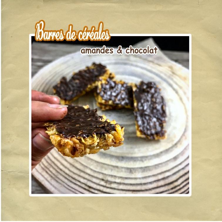 barre flocons de mais chocolat amandes