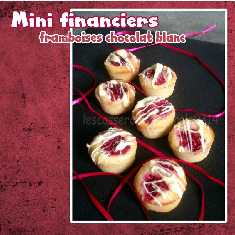 Mini-cakes chocolat blanc framboise (SCRAP)