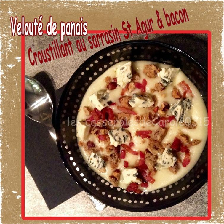 velouté panais st agur croustillant sarrasin bacon (scrap)