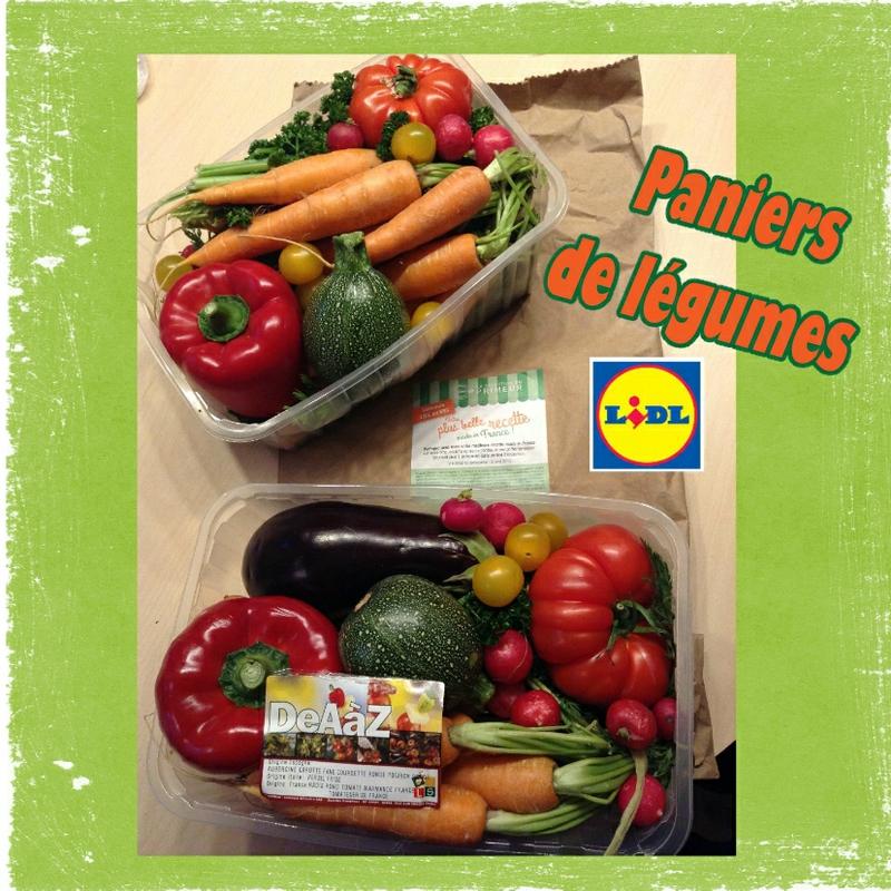 Panier de légumes lidl