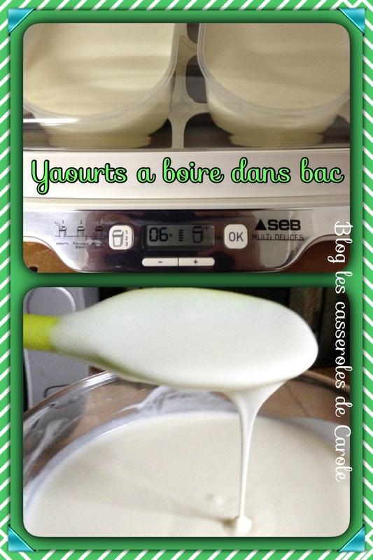 yaourt à boire montage