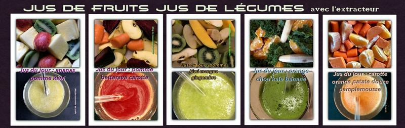 bannière jus de fruits légumes