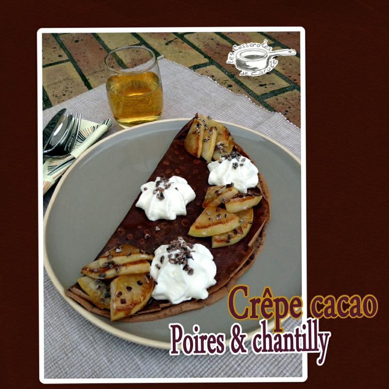 crêpe cacao poires poelées chantillly(scrap)