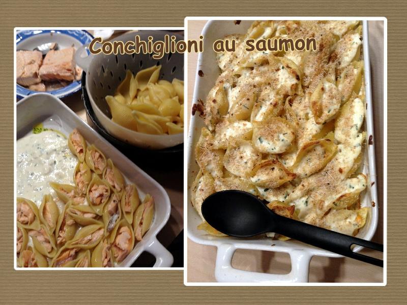 conchiglioni au saumon (scrap)