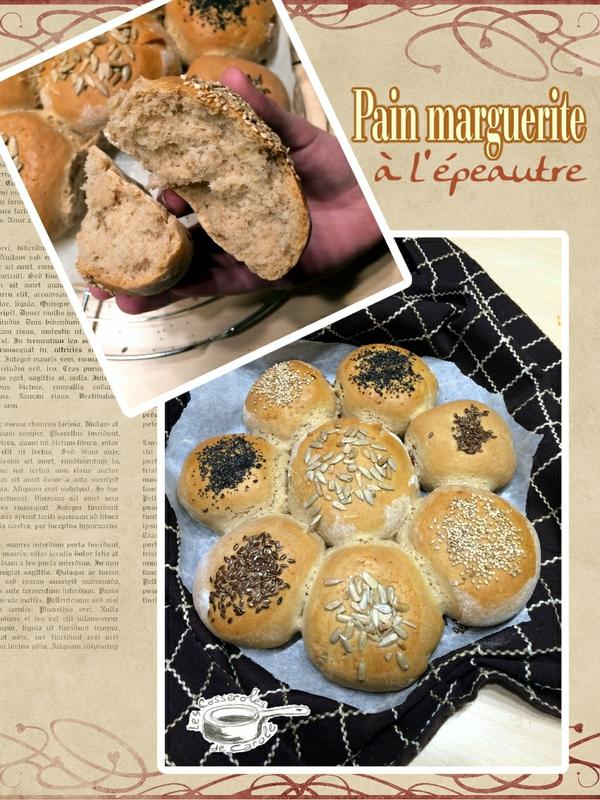 pain marguerite à l'épautre (scrap)
