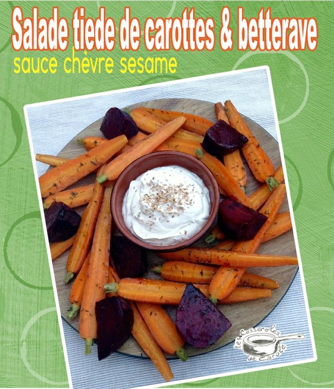 salade tiède carottes bettraves sce chèvre sésame (scrap)
