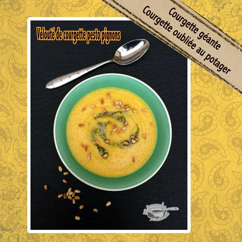 velouté de courgettes (courgette oubliée courgette géante)2