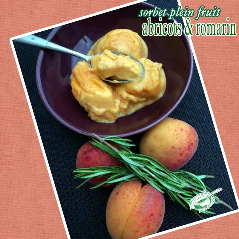 sorbert plein fruit abricots romarin