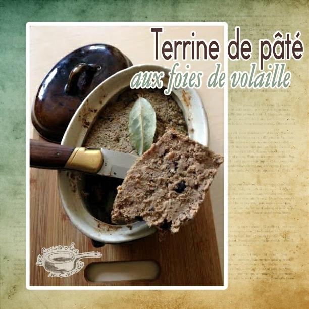 terrrine de pâte de campagne aux foies de volaille