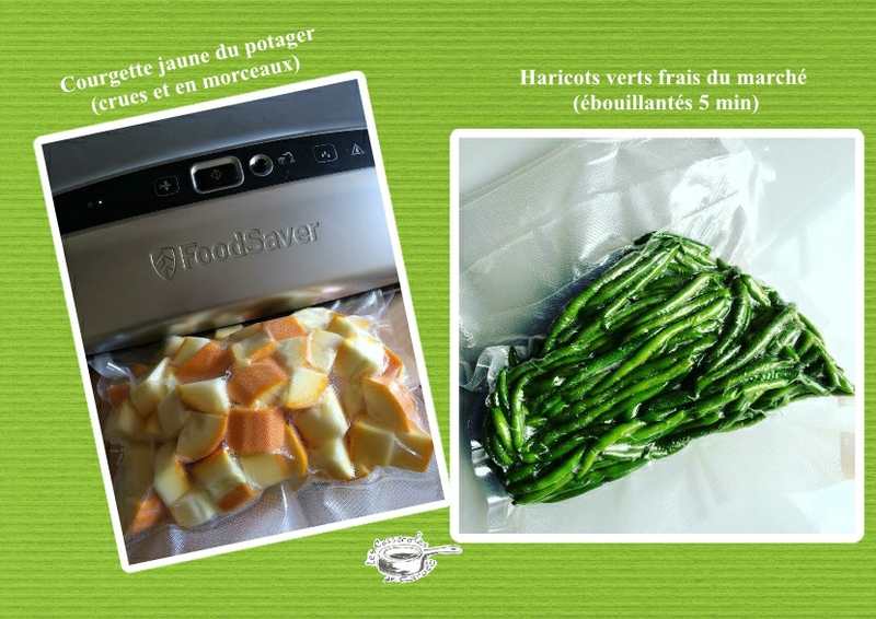 légumes sous vide foodsaver
