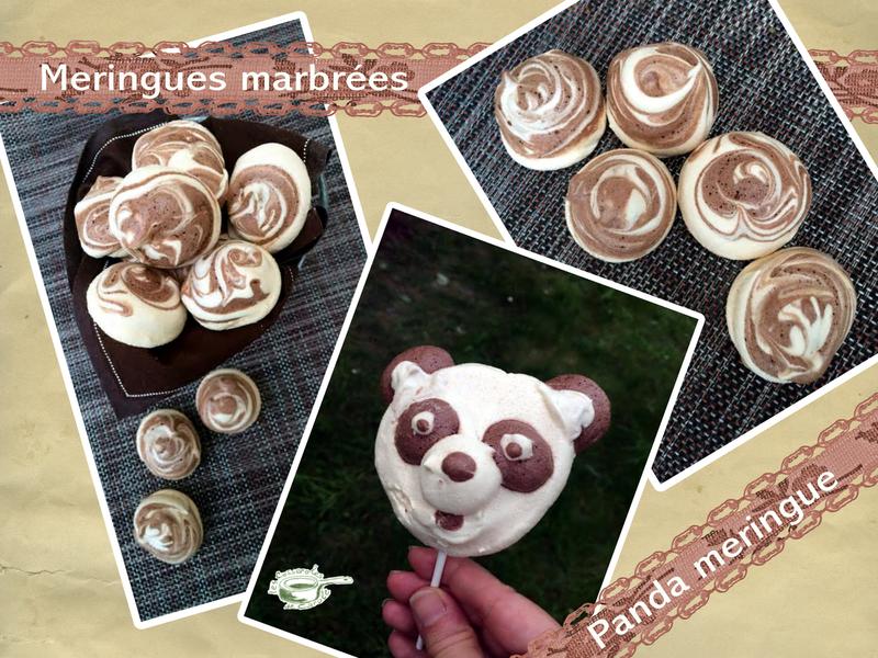 meringues marbrées panda meringue (scrap)