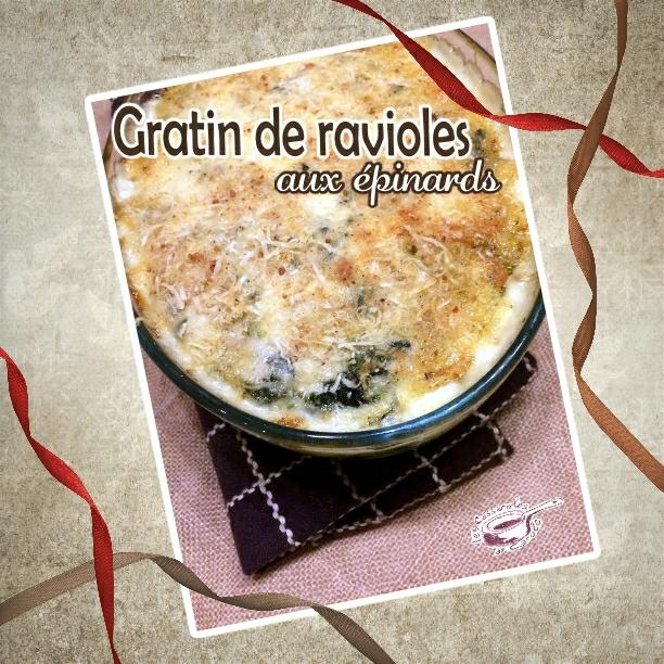 gratin de ravioles aux épinards(scrap)