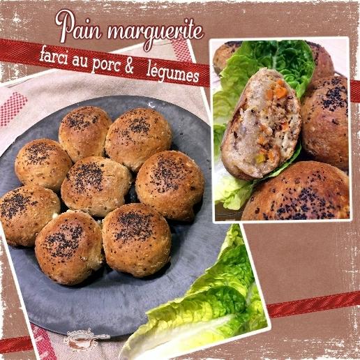 pain marguerite farci au porc & légumes (SCRAP)