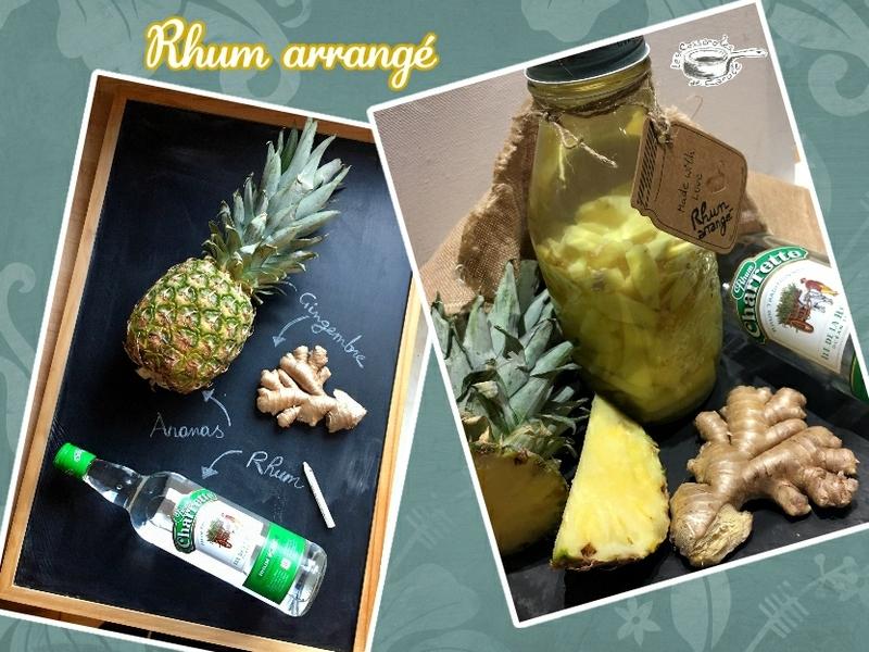 rhum arrangé ananas gingembre (scrap)