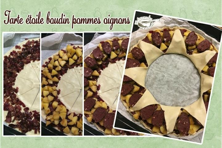 tarte étoile boudin pommes oignons triptique (SCRAP)