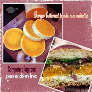 burger butternut panée noisettes compotee oignons rouge sce chèvre bun maison(SCRAP2