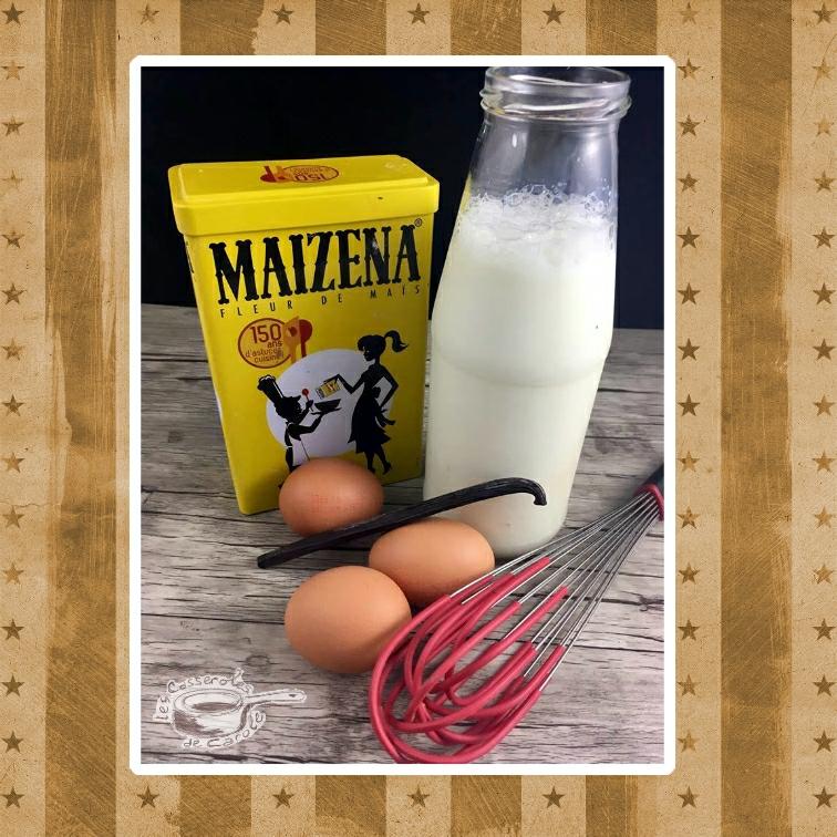 ingrédients crème patissière et anglaise (SCRAP)