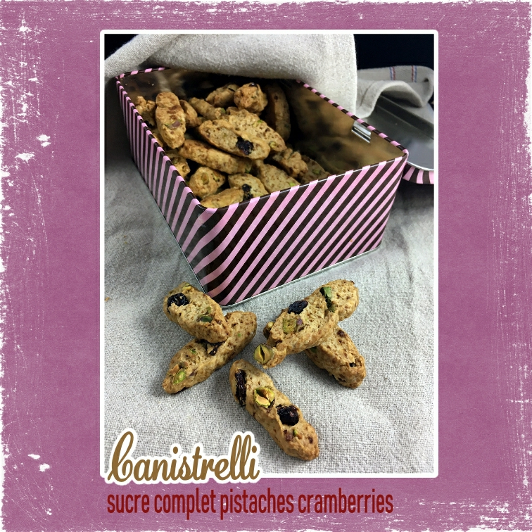 Cannistrelli sucre complet pistaches cramberries (scrap)