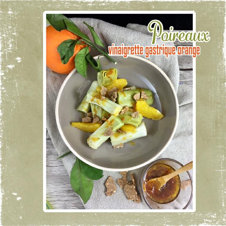 poireaux vinaigrette gastrique orange water crakers sarrasin(scrap)