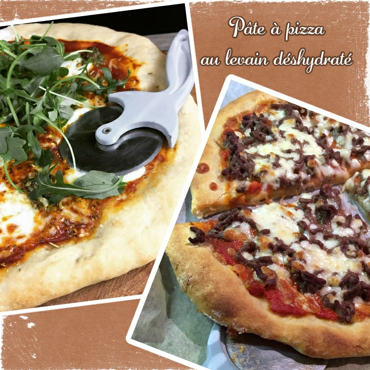 pizza x 2 pate à levain déshydraté (scrap)