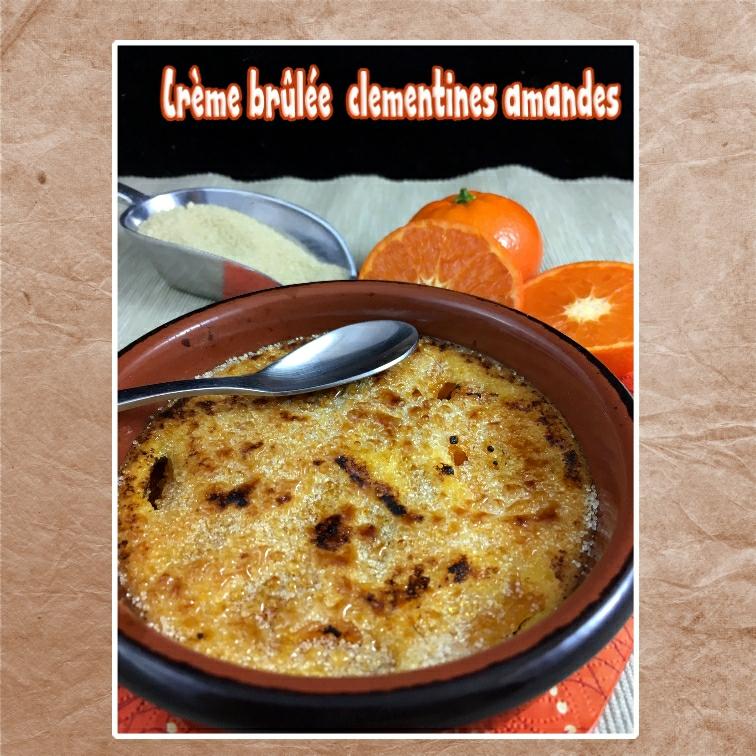 crème brûlée clémentine pate d'amande (srap)