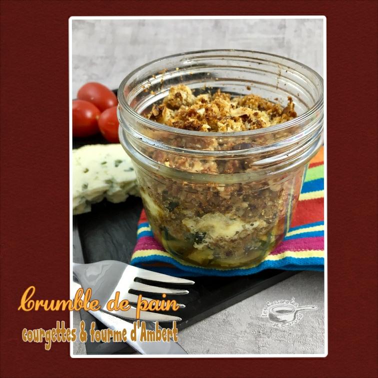 crumble de pain courgettes et fourme d'ambert (scrap)