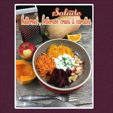 Salade butternut, betterave crues & carottes(scrap)