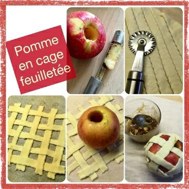 Pomme en cage feuilletée pas à pas (scrap)