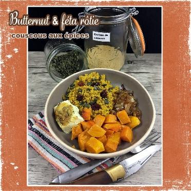 Butternut et feta roties couscous aux épices(scrap)