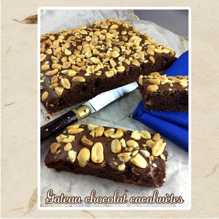 gateau chocolat cacahuètes sans lait sans beurre