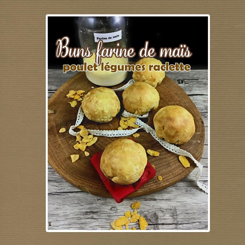 buns farine de mais poulet légumes raclette (scrap)