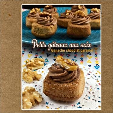 Petits gâteaux aux noix ganache chocolat caramel (scrap)