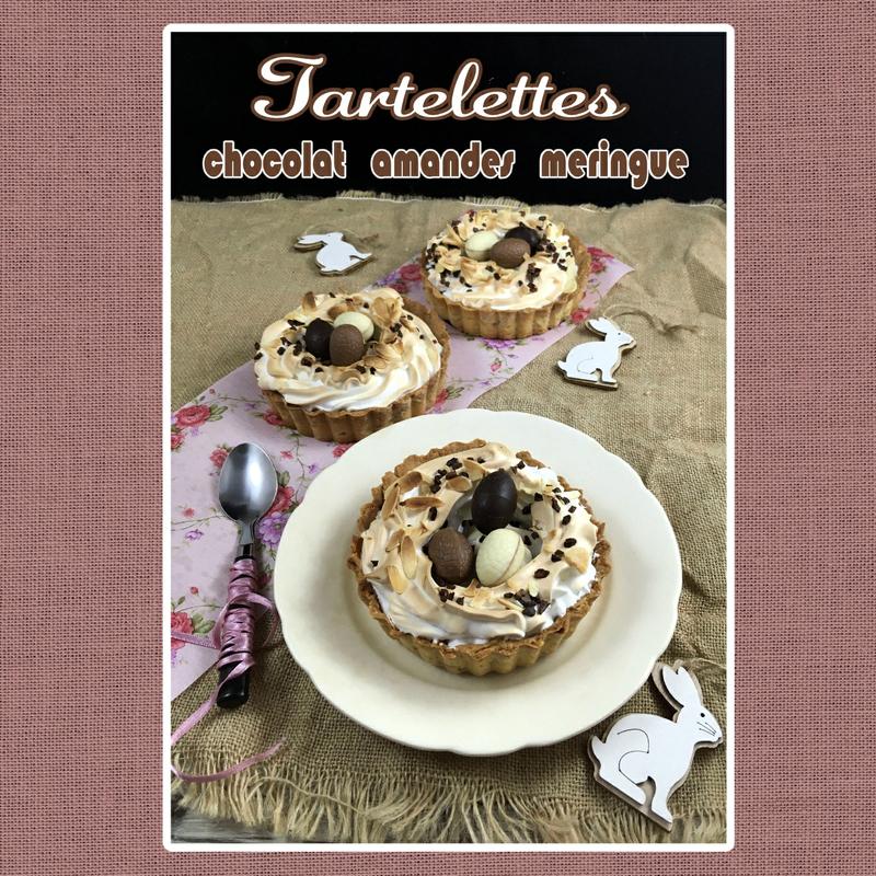 Tartelette chocolat amandes et meringue (scrap)