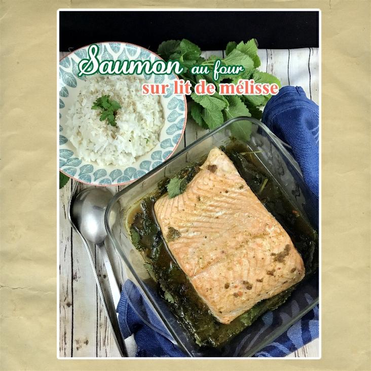 Saumon au four sur lit de mélisse