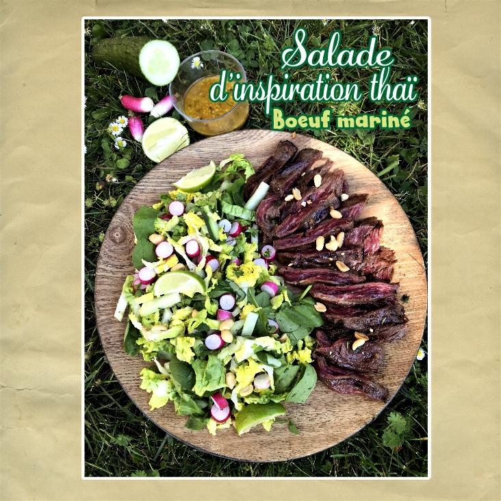 salade d'inspiration thaï boeuf mariné