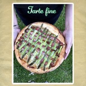 tarte feuilletée asperges vertes et lard