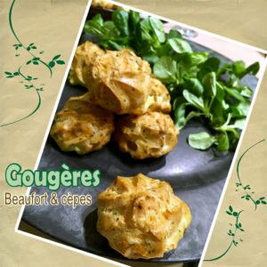 gougère fromage et cèpes
