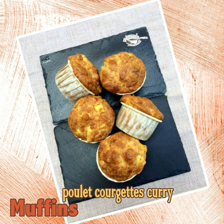 muffins poulet courgettes curry