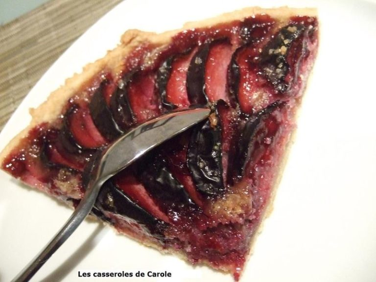 tarte prunes amandes