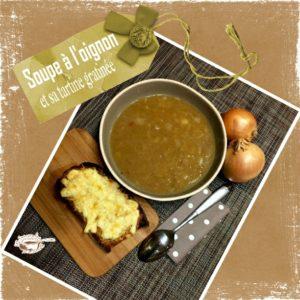 soupe oignon gratinée