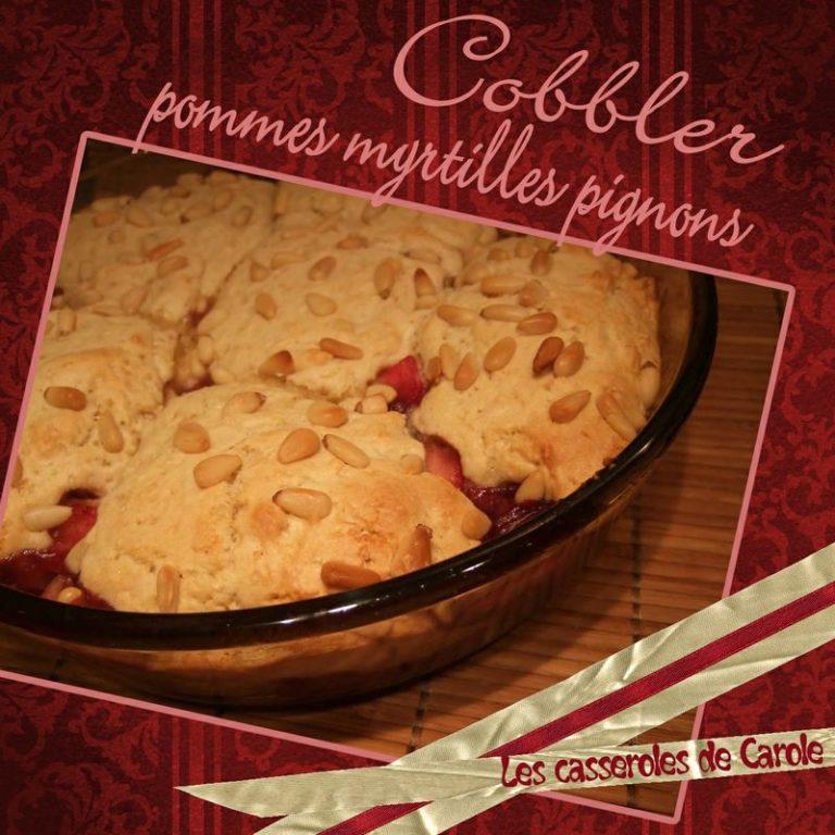 cobbler pomme myrtilles