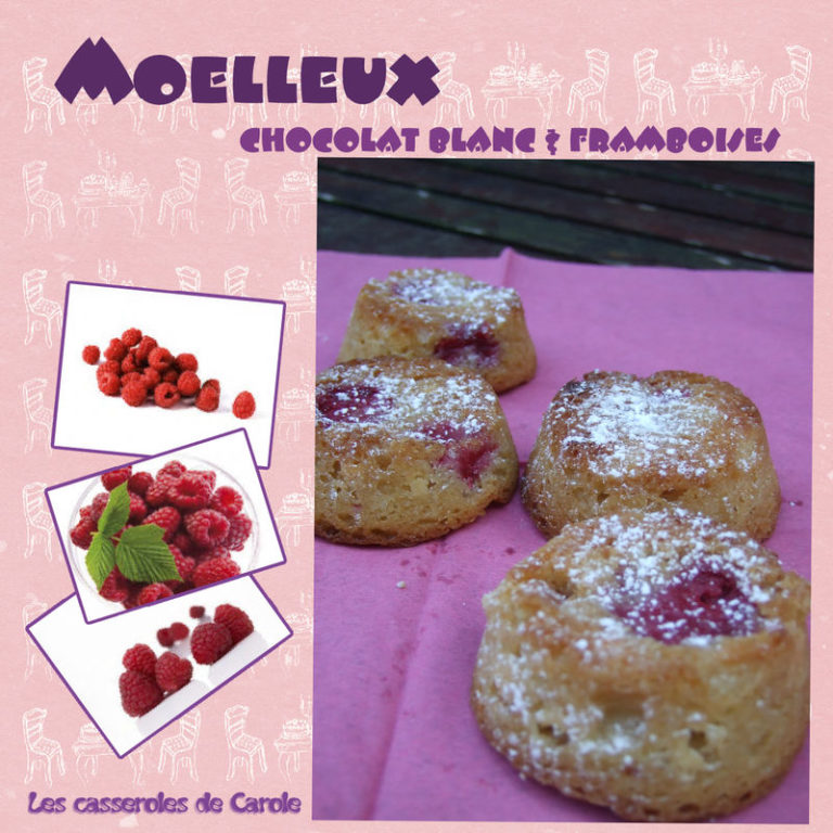 moelleux chocolat blanc framboises