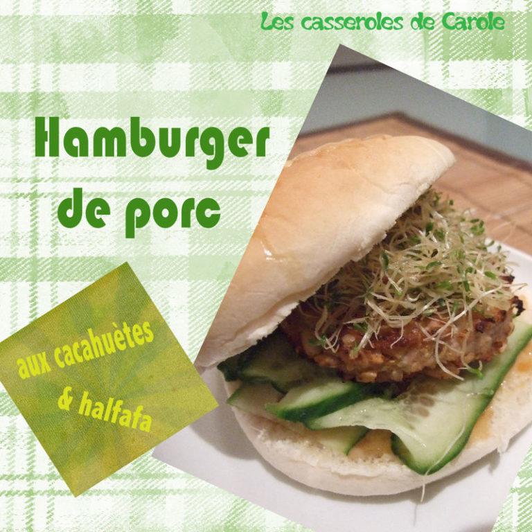 hamburger porc cacahuètes chutney