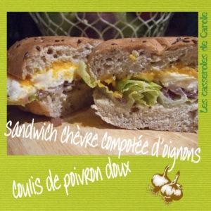 sandwich chèvre oignon poivron