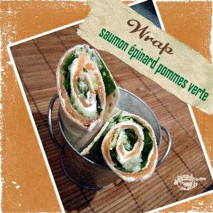 wrap saumon épinard pomme